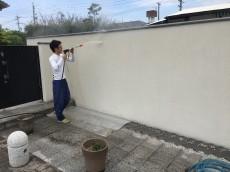 塀壁塗装!!
