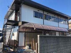 あま市 T様邸 2棟 外壁・屋根塗装 板金補修 の外壁塗装、屋根塗り替え施工実績