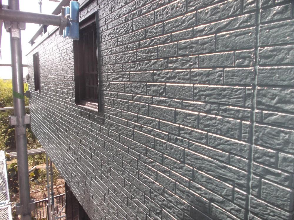 外壁サイディング 完成です