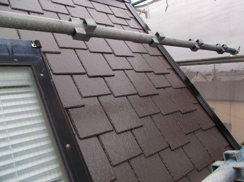 屋根完成です