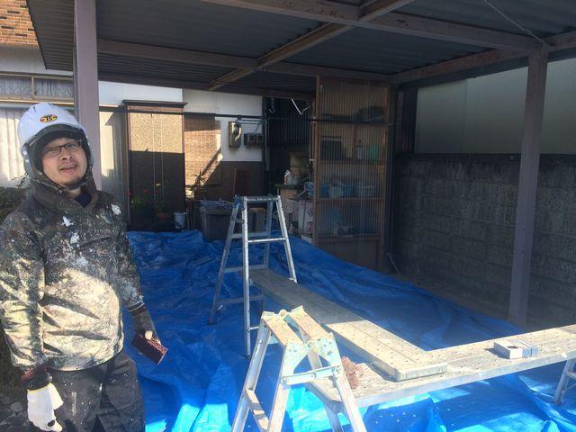 車庫の塗装!!