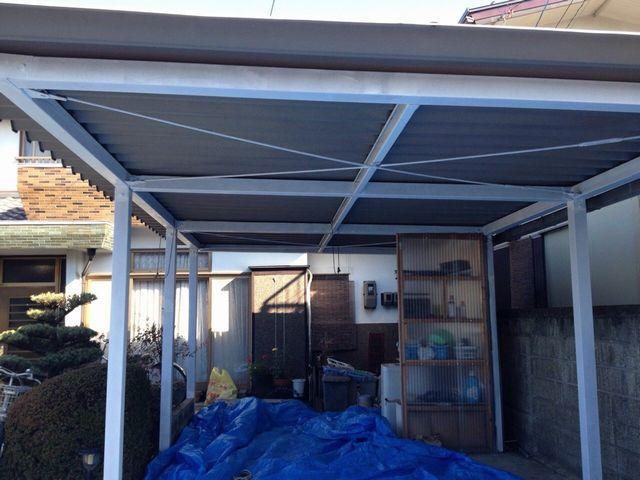 車庫塗装完了!!