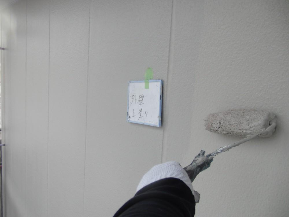 外壁・ALC 上塗り中です