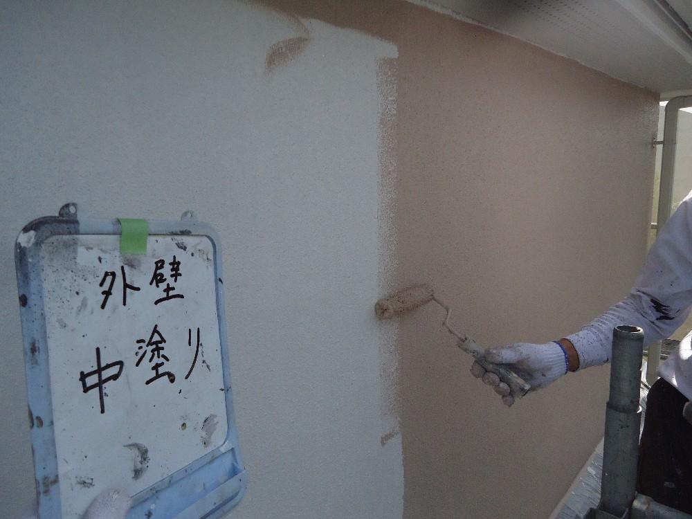 外壁 中塗り中です。