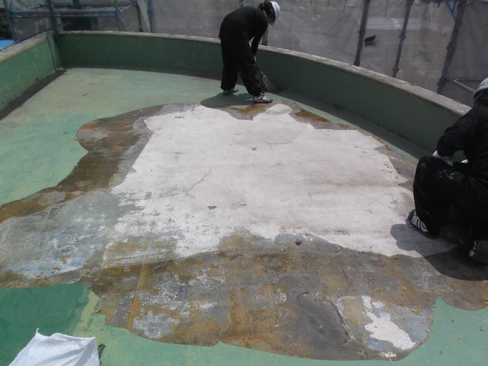 屋上防水 施工前です。