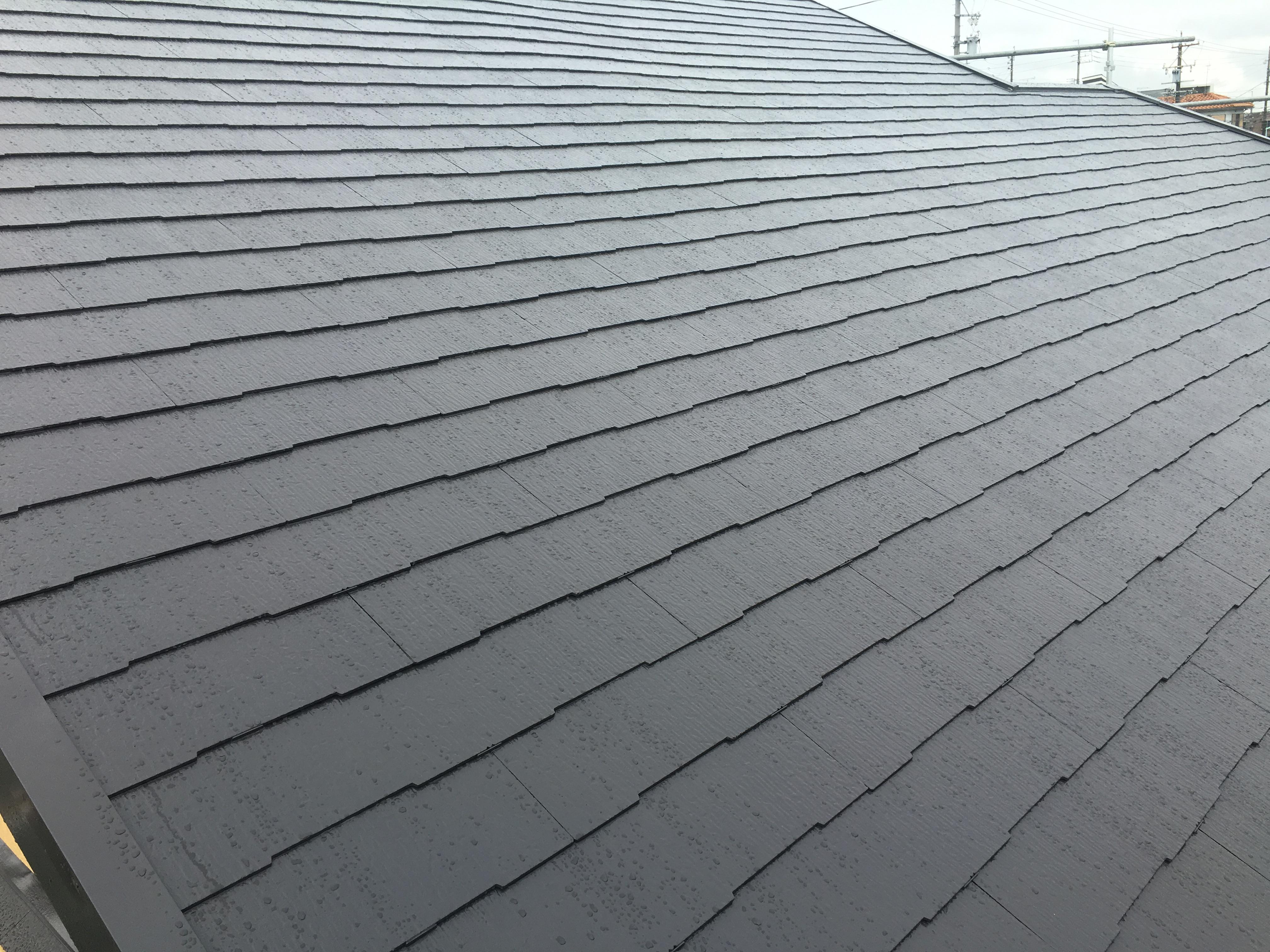屋根 カラーベスト 完了です