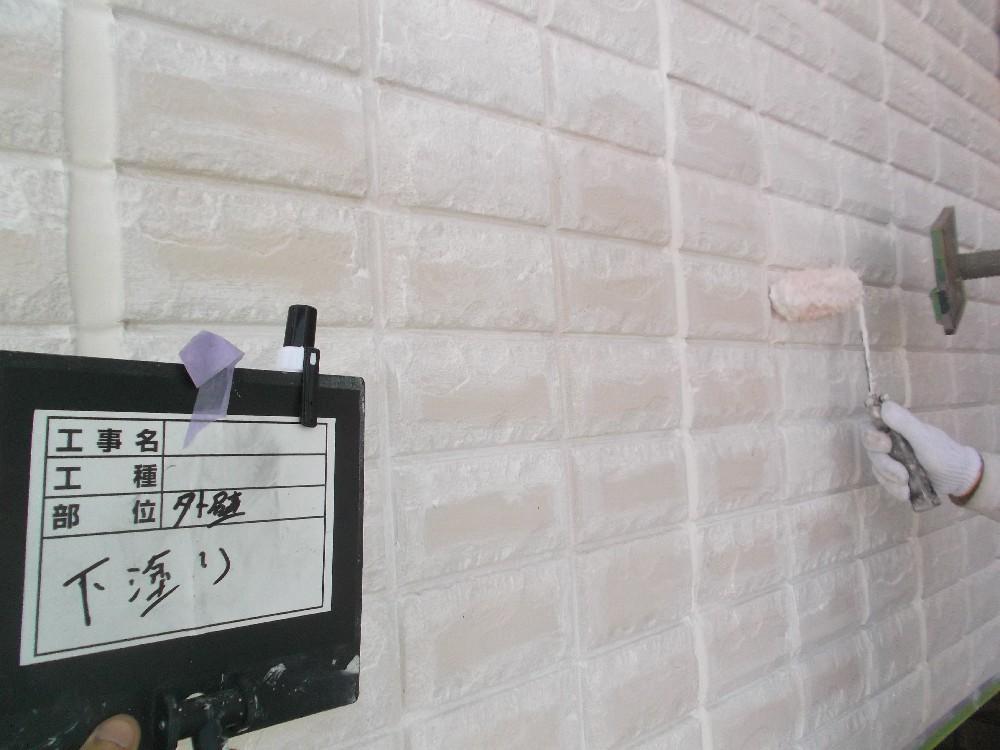 外壁ALC 下塗り中です