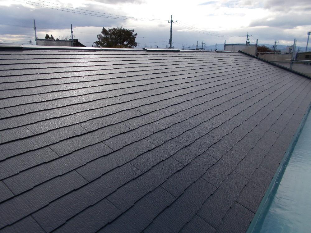 屋根カラーベスト 塗装完了です。